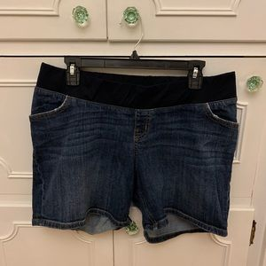 Maternity Denim Jean Shorts
